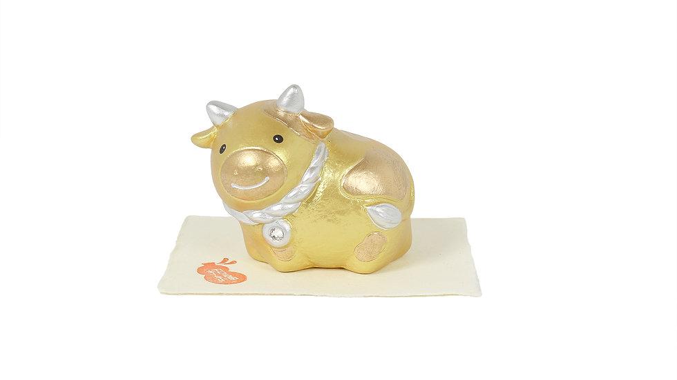 K21-24 丑 招福飾り(金)
