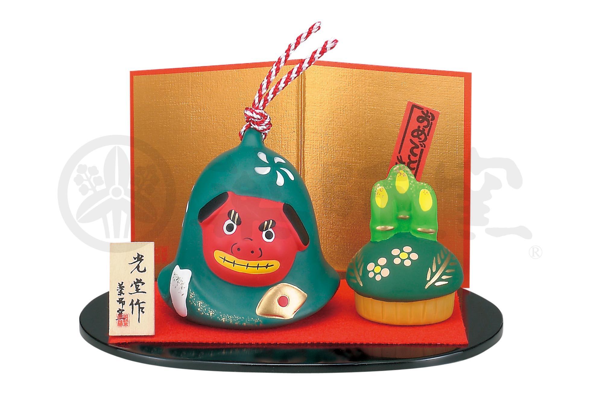 1131錦彩獅子舞飾り(土鈴)