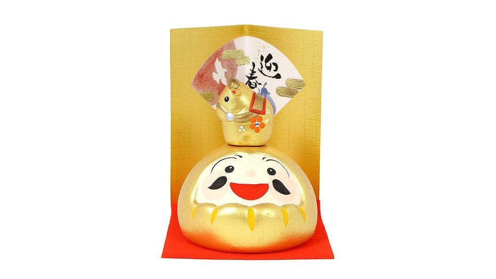 K21-13 丑 金ダルマ飾り