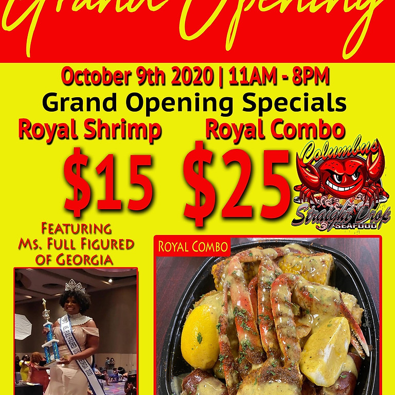 "Grand Opening of ""Columbus, GA Straight Drop Seafood"""