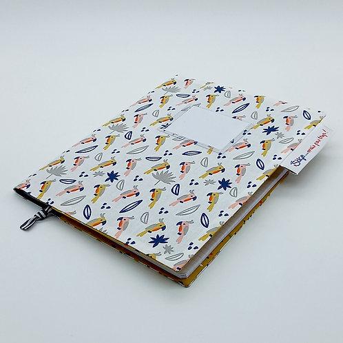 Couverture A5 - Perroquets (petit cahier)