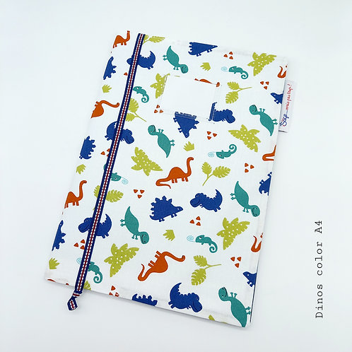 Couverture A4 - Dinos Colors (grand cahier)