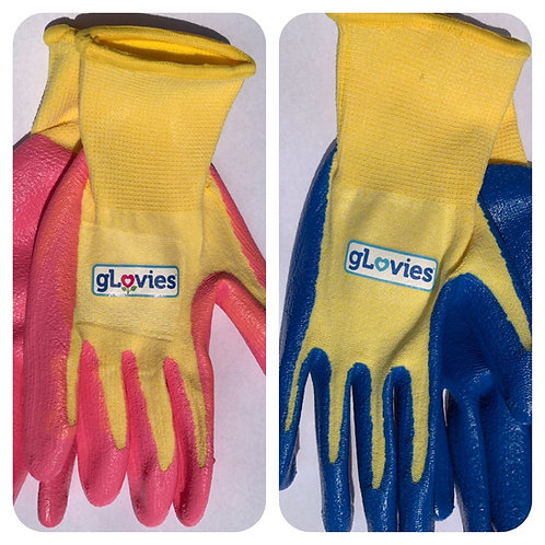 gLovies Youth Stretch Re-Usable Gloves With Nitrile Coating (2 Pair)