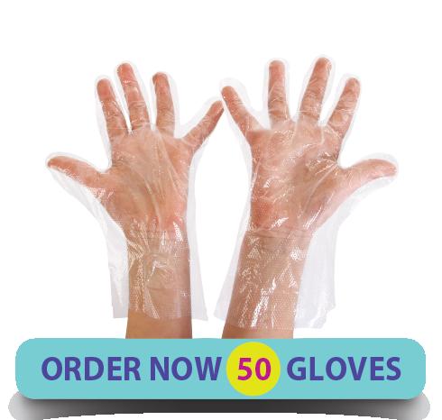 gLovies Latex-Free Multipurpose Gloves (50 Count)