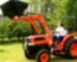 Citrus farm tractor