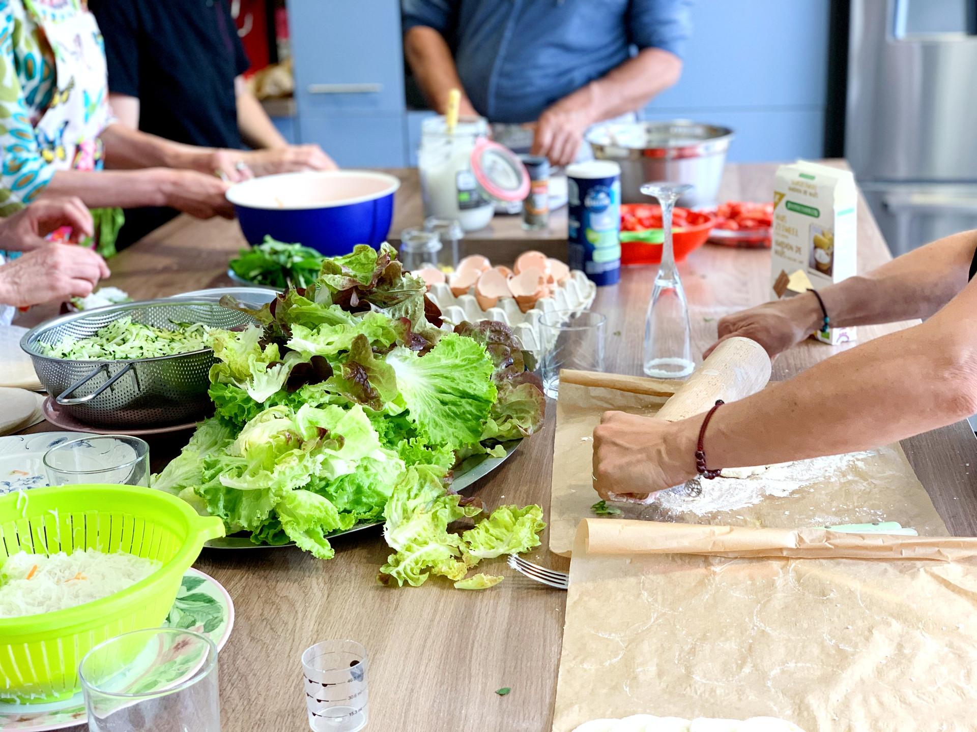Déroulé d'un cours de cuisine