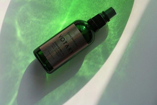 VOTARY CLEANSING OIL, ROSE GERANIUM AND APRICOT