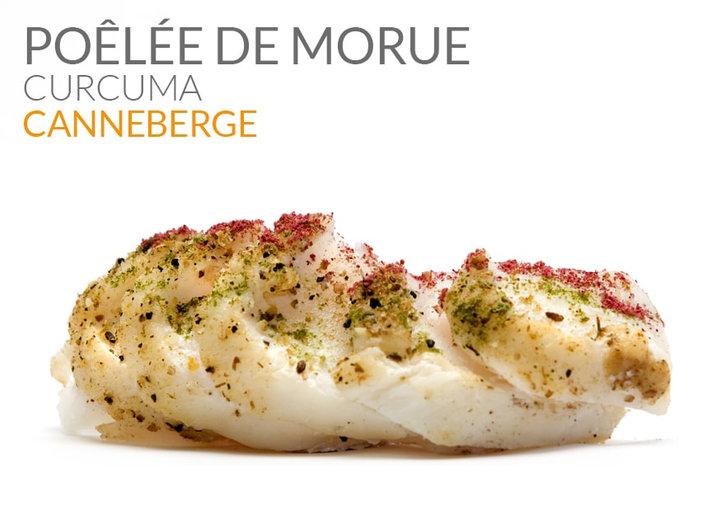 POÊLÉE DE MORUE CANNEBERGE & CURCUMA