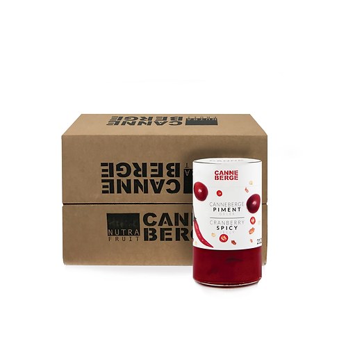CASE OF 12 CRANBERRY SPICY JELLY 212 ml