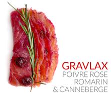 GRAVLAX POIVRE ROSE ROMARIN & CANNEBERGE