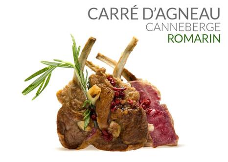 CARRÉ D'AGNEAU CANNEBERGE ROMARIN