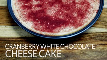 CRANBERRY WHITE CHOCOLATE CHEESE CAKE-mi