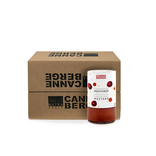 CASE OF 12 DIJON-STYLE CRANBERRY MUSTARD 212 ml