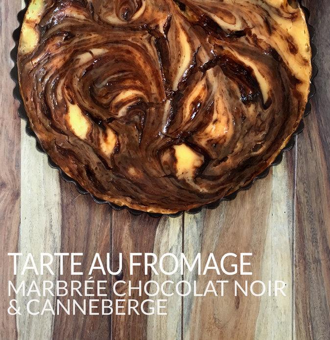 Cranberry Dark Chocolate Marbled Cheese Pie
