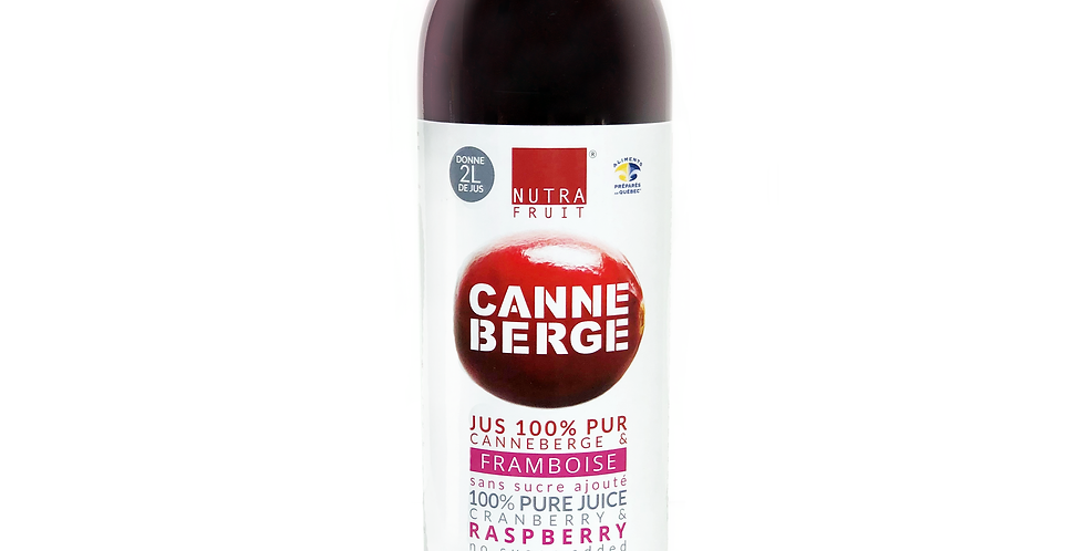 JUS 100% PUR CANNEBERGES & FRAMBOISES SANS SUCRE 500 ml