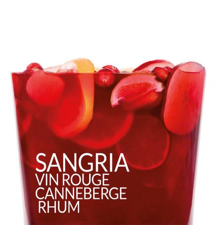 SANGRIA VIN ROUGE CANNEBERGE RHUM