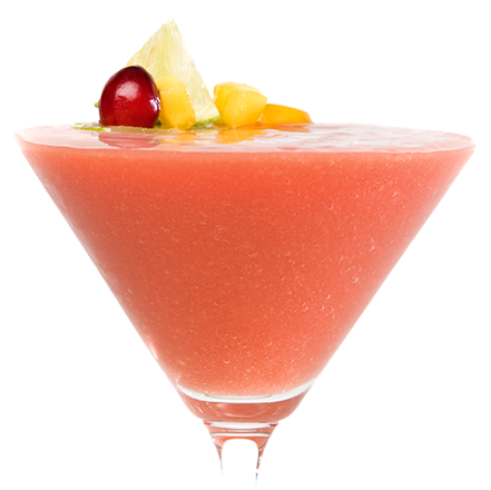 ICED VODKA CRANBERRY MANGO  COSMO