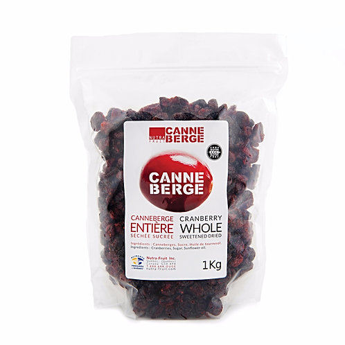 WHOLE SWEETENED DRIED CRANBERRIES 1 KILO