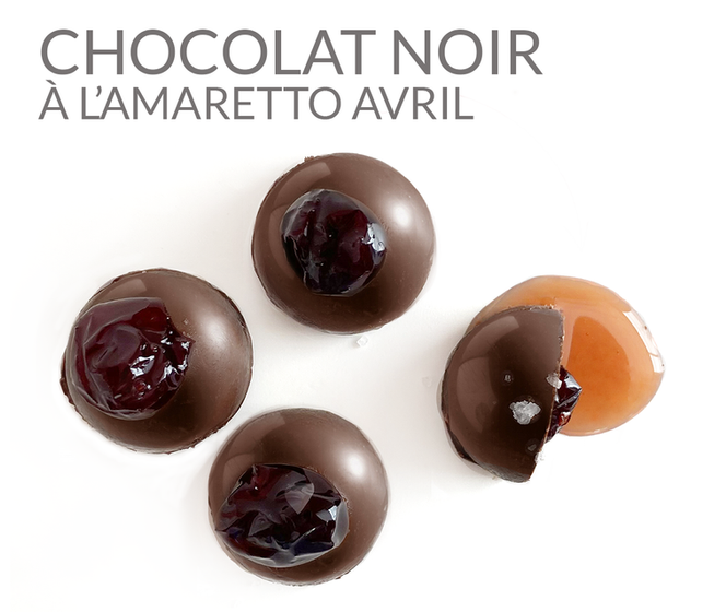 CHOCOLAT NOIR À L'AMARETTO AVRIL