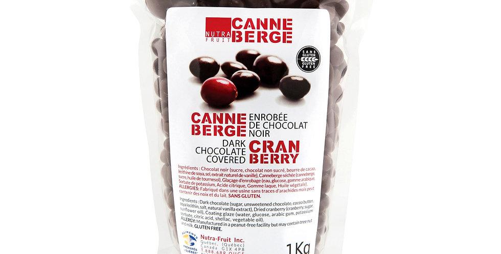 CANNEBERGE ENROBÉE DE CHOCOLAT NOIR 1 KILO