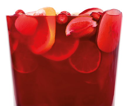 RED WINE, CRANBERRY & RUM SANGRIA