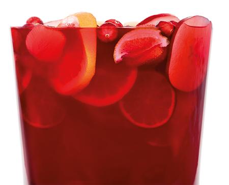 RED WINE, CRANBERRY & RUM SANGRIA