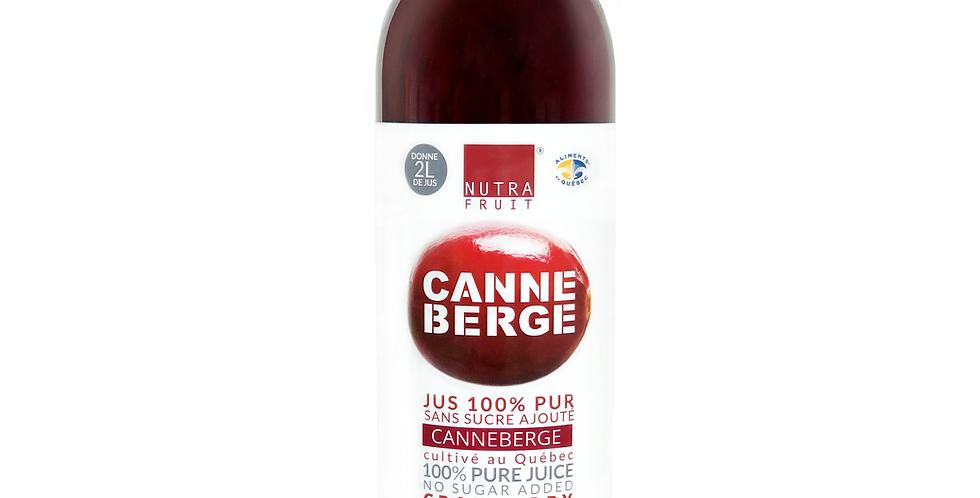 JUS 100% PUR CANNEBERGES SANS SUCRE 500 ml