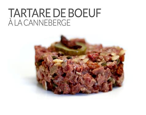 TARTARE DE BOEUF À LA CANNEBERGE