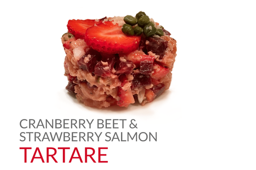 CRANBERRY BEET & STRAWBERRY SALMON TARTA