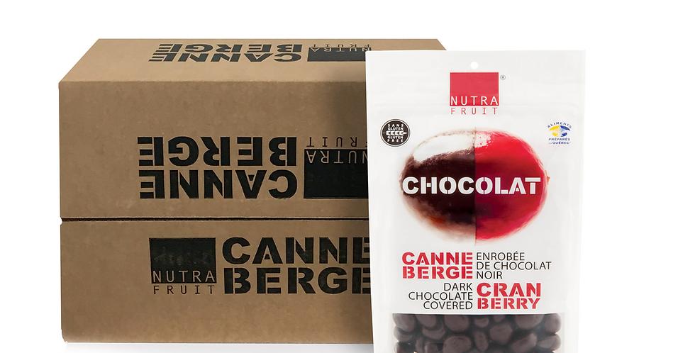 CAISSE DE 12 SACS CANNEBERGE ENROBÉE DE CHOCOLAT NOIR 325 g