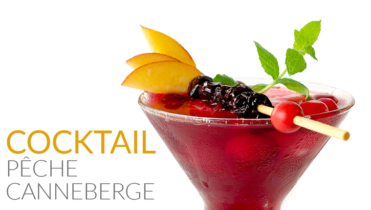 COCKTAIL PÊCHE & CANNEBERGE