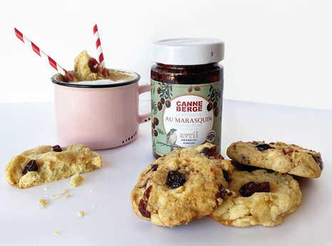 BISCUITS AUX CANNEBERGES ORANGE & CHOCOLAT BLANC