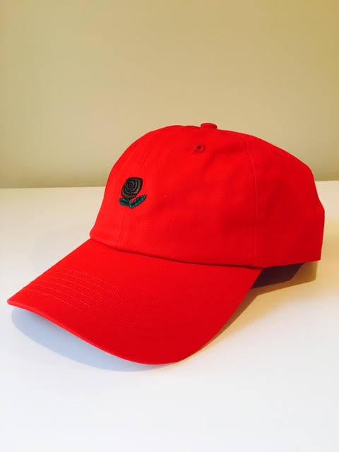 Rose Dad Hat (Red)