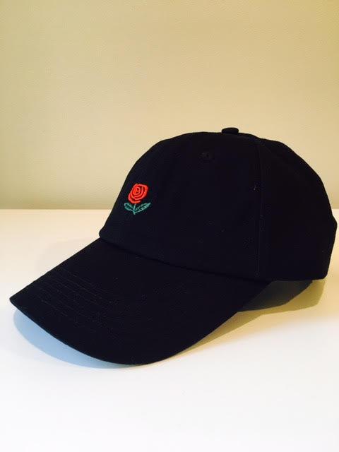 Rose Dad Hat (Black)