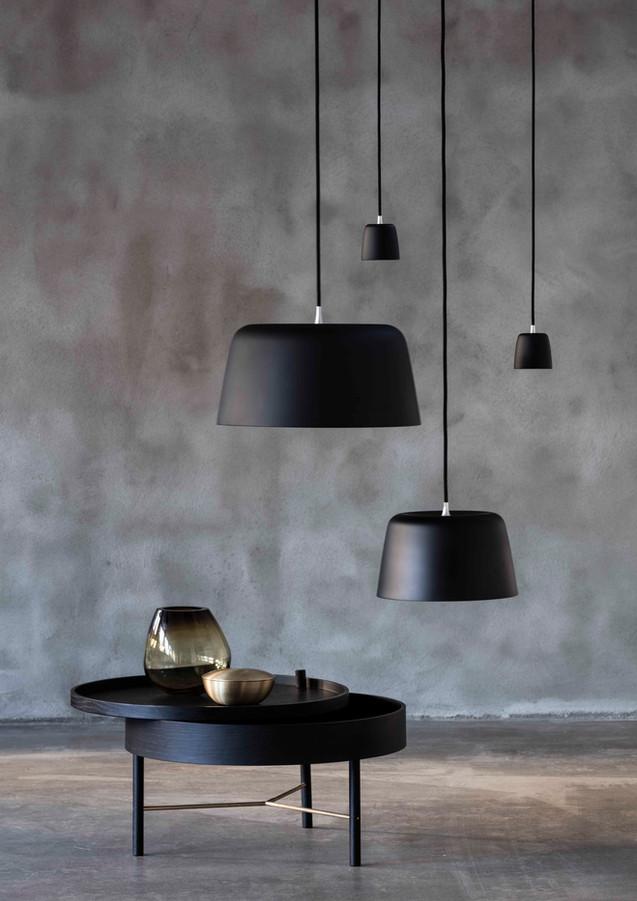 Noir lamp collection for Loevschall
