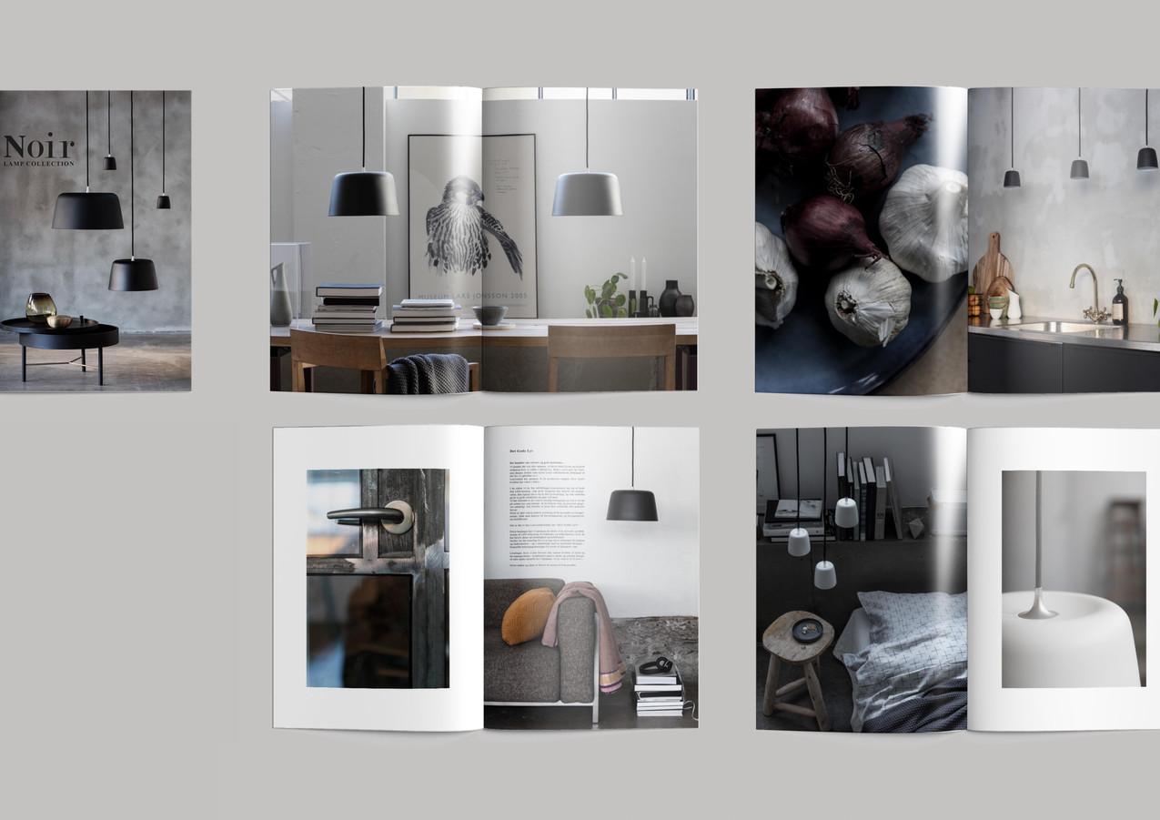 Noir lamp collection brochure for Loevschall