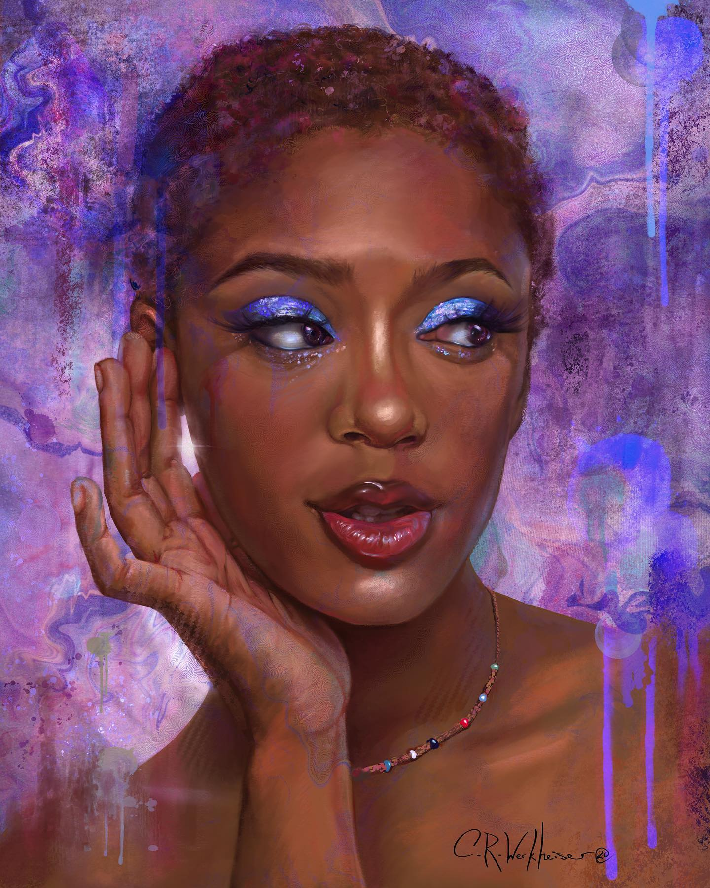 "'Coy"" Zahnia Art Portrait"