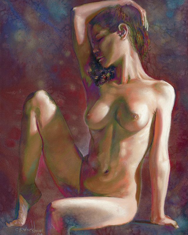Figure drawing of Irinav model from @art