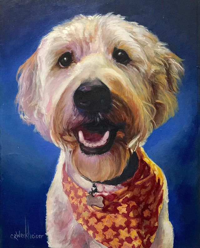 My finished werk. 😉🎨 acrylic 8x10 on board #Dogportraits._._._._._