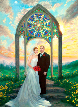 The Halls Wedding Portrait