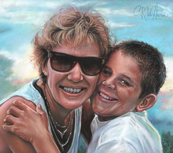 New!…Pastel portrait. #Pastelmat 9x12 #unisonpastels #clairefontaine #pastelpencils #carbothellostab
