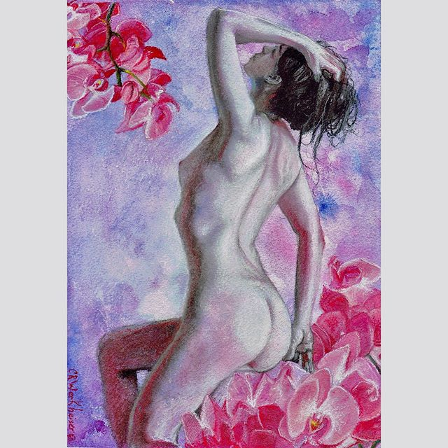 "New Figure drawing!! ""Radiant Orchid"" Mo"