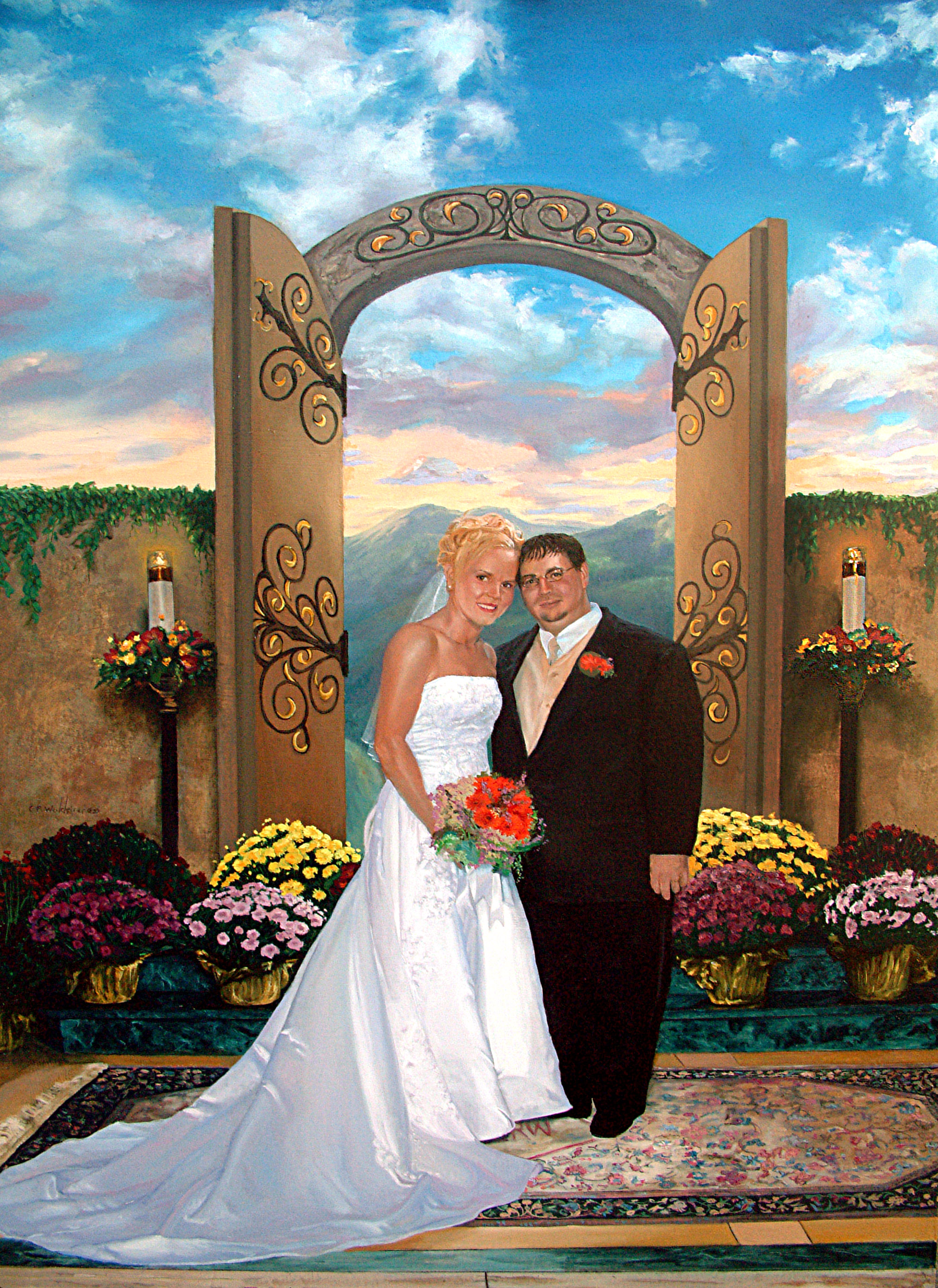 Nicki & Lenny Wedding Portrait