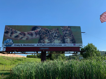 Billboard with flag