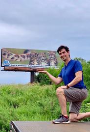 Craig With Winning Billboard