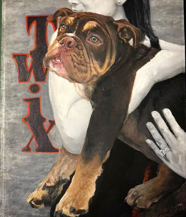 TWIX! This guy is adorable! 11x14 acrylic on board.... I think it's fina