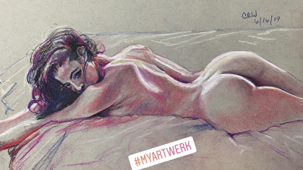 Rene Pastel Drawing