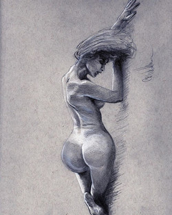 """New Figure drawing!! """"✍️Graphite with wh"""