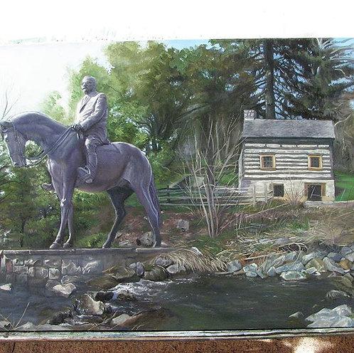 """Trexler Park Allentown"" Oil Painting on Board 10.5""x16.5"""