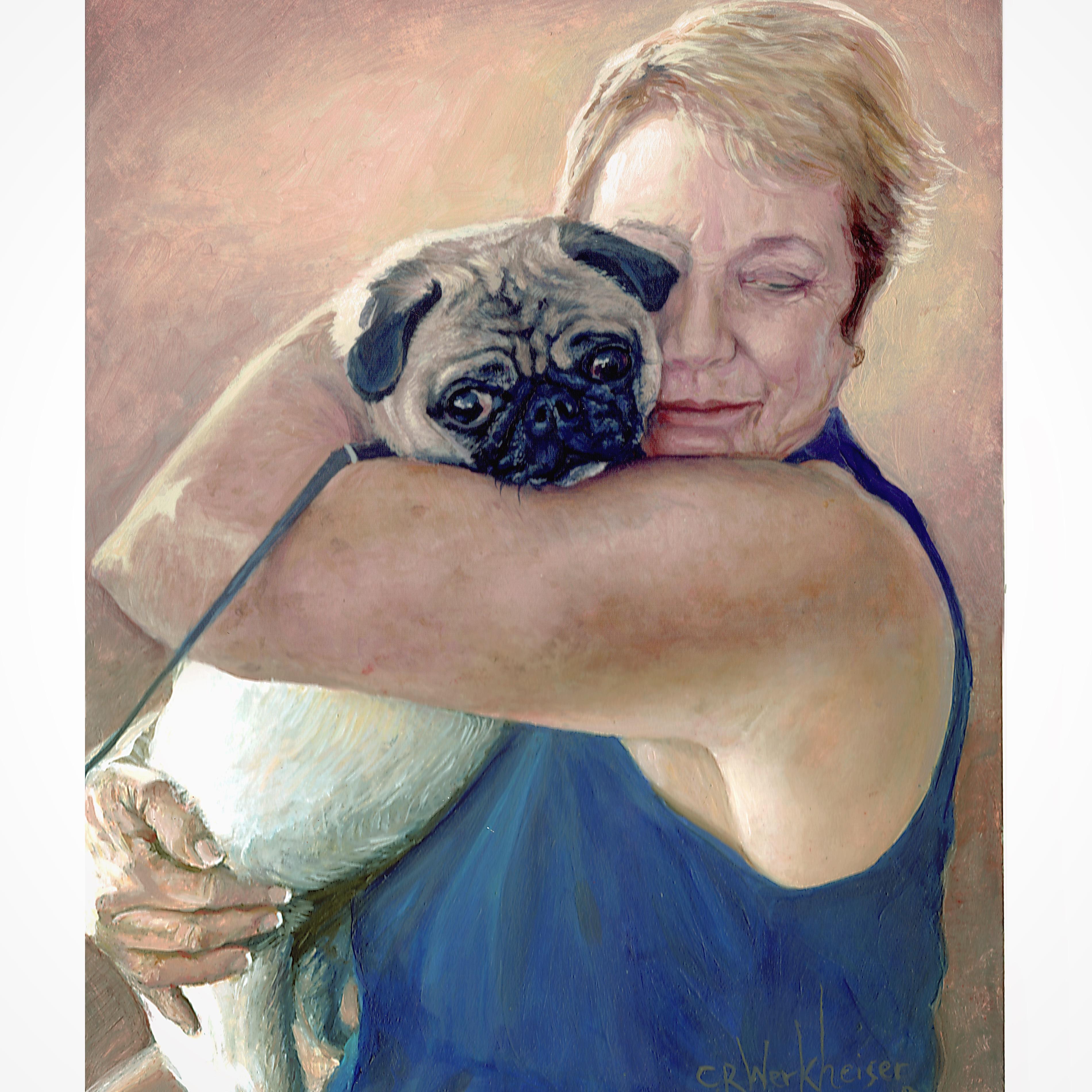 Pug & Mom